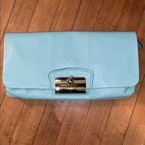 NEW!!! coach large leather clutch purse